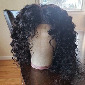 Deep wavy human hair wig